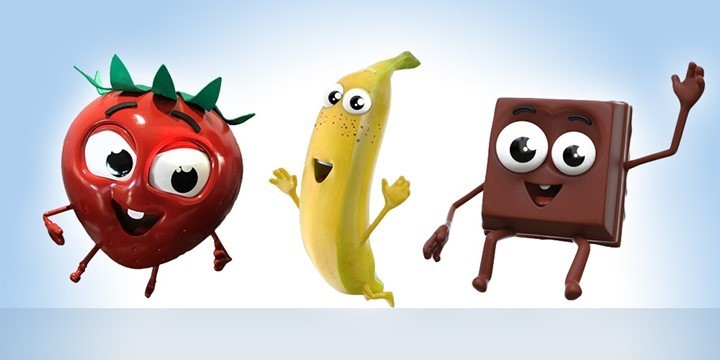 STRAWBERRY, BANANA AND CHOCOLATE - İÇİM GIDA drawing