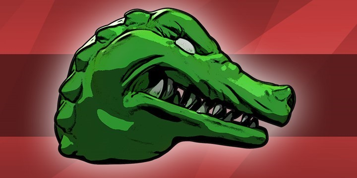 GREEN CROCODILE - DREAMBOX FILMS drawing