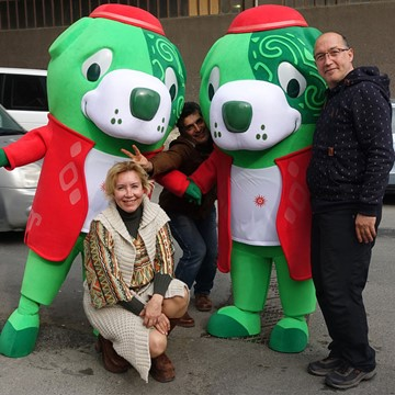 GREEN DOG ASHGABAT SPORTS OLYMPICS mascot